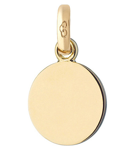LINKS OF LONDON 18ct yellow-gold disc charm