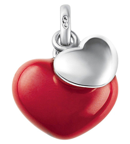 LINKS OF LONDON Two Hearts sterling silver and enamel charm