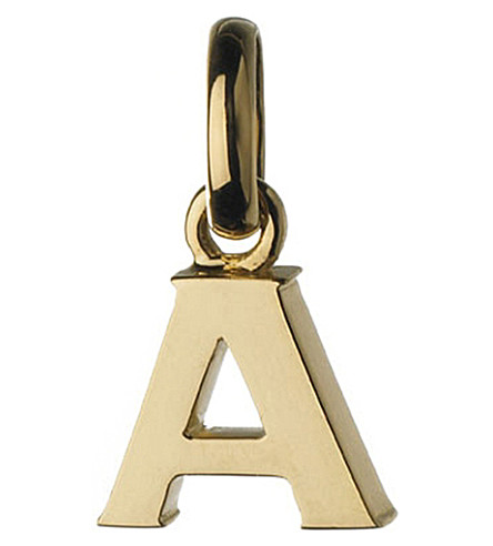 LINKS OF LONDON Alphabet A 18ct yellow-gold charm