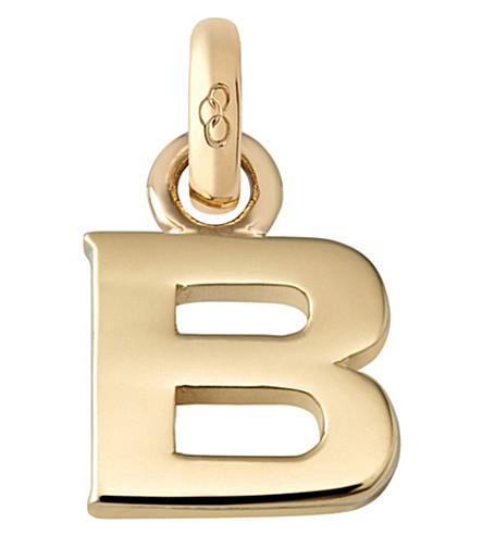 LINKS OF LONDON B 18ct yellow gold charm (Gold