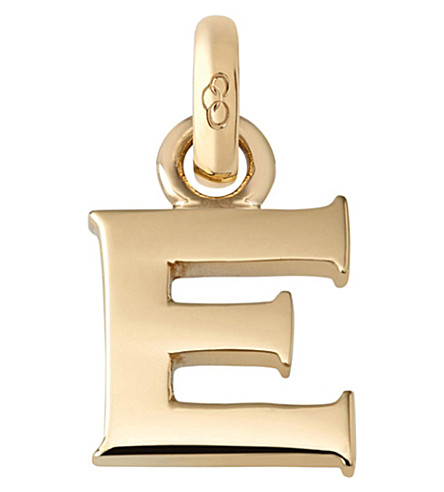 LINKS OF LONDON E 18ct yellow gold charm (Gold