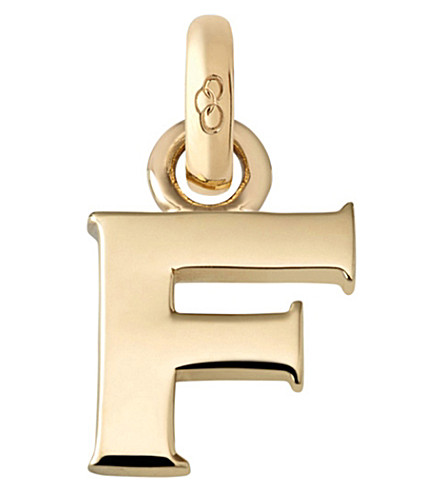 LINKS OF LONDON F 18ct yellow gold charm (Gold