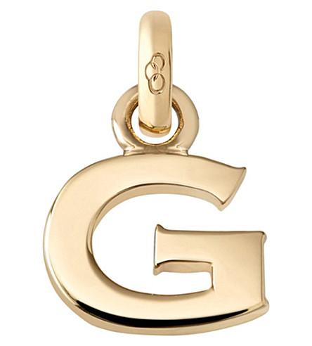 LINKS OF LONDON 字母 G 18ct 黄色金色的魅力