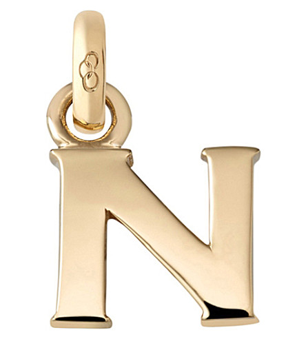 LINKS OF LONDON Alphabet N 18ct yellow gold charm