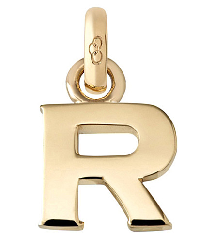 LINKS OF LONDON Alphabet R 18ct yellow gold charm (Gold