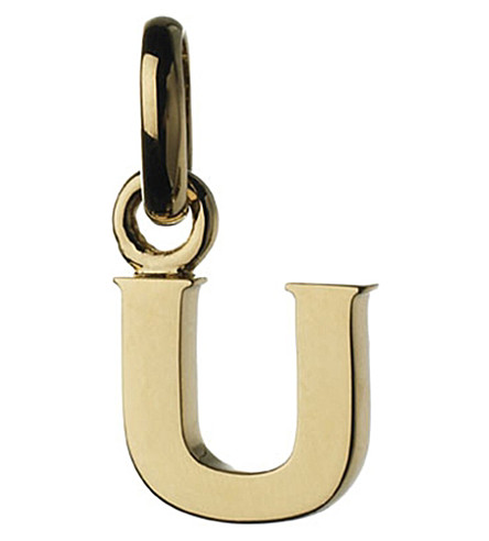 LINKS OF LONDON Alphabet U 18ct yellow-gold charm