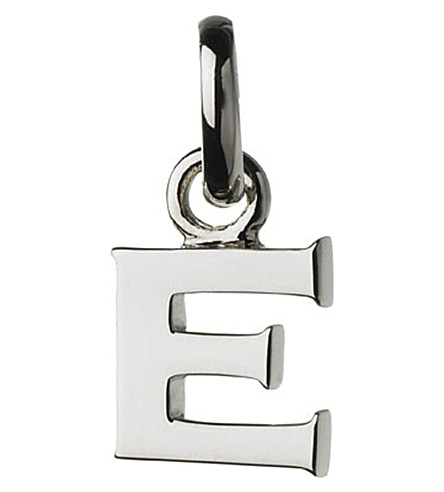 LINKS OF LONDON Alphabet E sterling silver charm