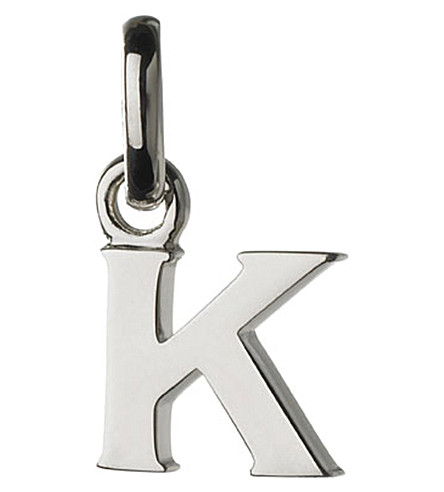 LINKS OF LONDON Alphabet K sterling silver charm