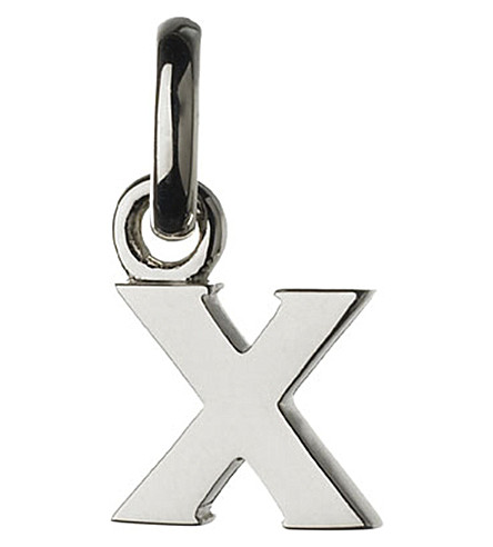LINKS OF LONDON Alphabet X sterling silver charm