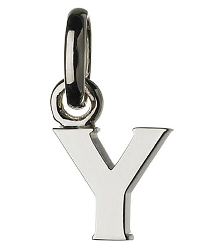 LINKS OF LONDON Alphabet Y sterling silver charm