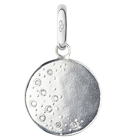 LINKS OF LONDON Moon sterling silver and diamond charm (Silver