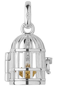 LINKS OF LONDON Birdcage sterling silver and 18-carat gold charm