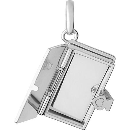 LINKS OF LONDON Once Upon a Time Book sterling silver locket charm