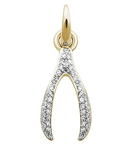 LINKS OF LONDON Wishbone 18ct yellow-gold and diamond charm