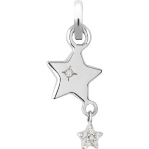 Wish upon a star 18-carat white gold charm
