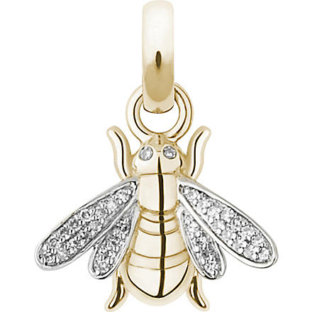 LINKS OF LONDON Bee 18-carat gold and diamond charm
