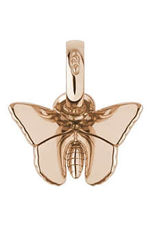 LINKS OF LONDON Butterfly 18-carat rose gold charm