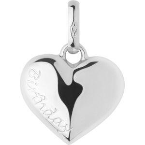 Birthday heart sterling silver charm