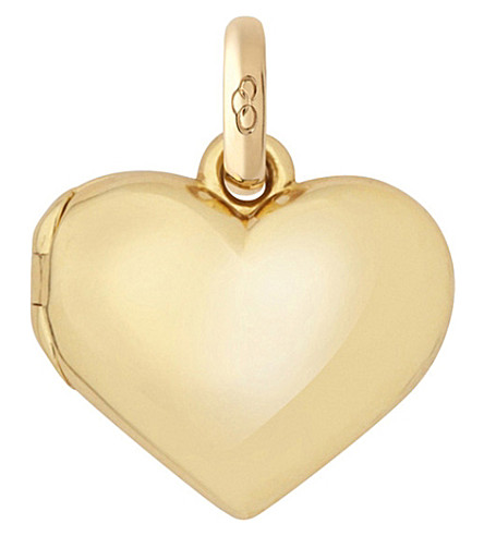 LINKS OF LONDON 18ct yellow gold Heart Locket charm (Gold