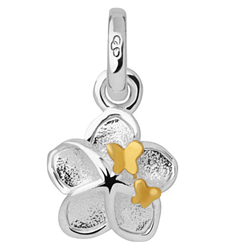 LINKS OF LONDON Flower and Butterfly sterling-silver mini charm