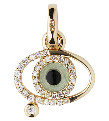 LINKS OF LONDON Evil eye 18ct gold and diamonds charm