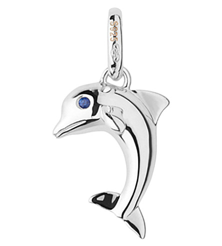 LINKS OF LONDON Dolphin sterling silver and sapphire charm