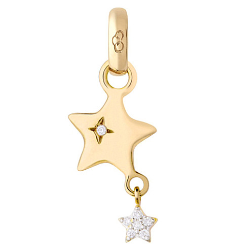 LINKS OF LONDON 18ct yellow-gold and diamond shooting star charm (Gold