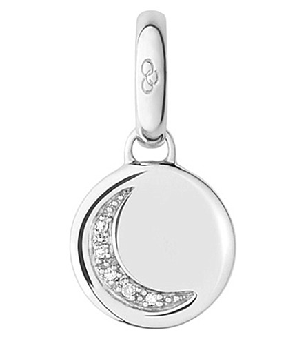 LINKS OF LONDON Crescent moon sterling silver charm (Silver