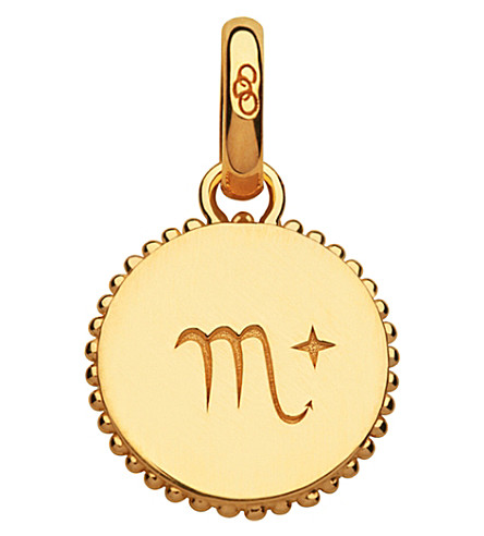 LINKS OF LONDON Scorpio 18ct yellow-gold vermeil zodiac charm