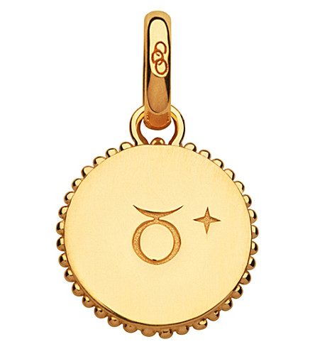 LINKS OF LONDON Taurus 18ct yellow-gold vermeil zodiac charm