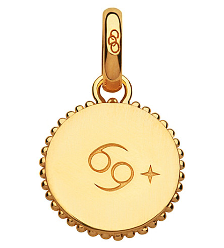 LINKS OF LONDON Cancer 18ct yellow-gold vermeil zodiac charm