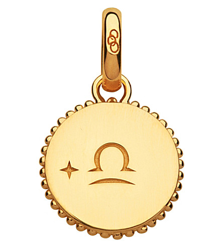 LINKS OF LONDON Libra 18ct yellow-gold vermeil zodiac charm