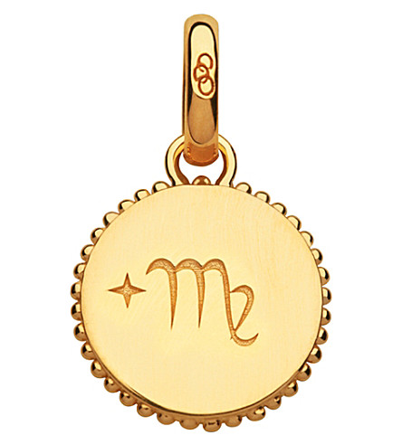 LINKS OF LONDON Virgo 18ct yellow-gold vermeil zodiac charm