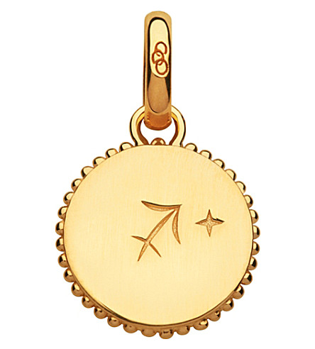 LINKS OF LONDON Sagittarius 18ct yellow-gold zodiac charm