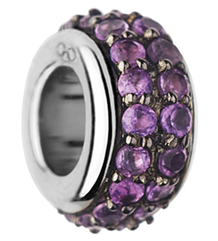 LINKS OF LONDON Sweetie sterling silver and amethyst bead (Purple