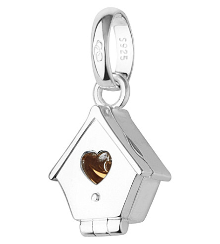 LINKS OF LONDON Sterling silver and 18ct yellow gold hinged birdhouse charm (Silver