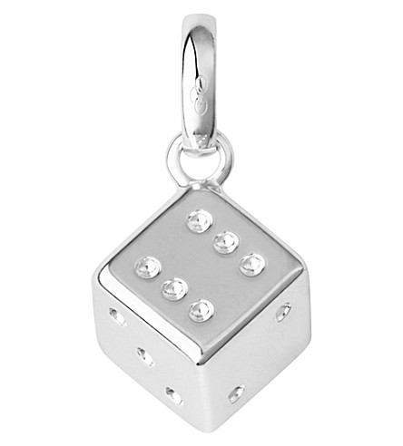 LINKS OF LONDON Sterling silver dice charm