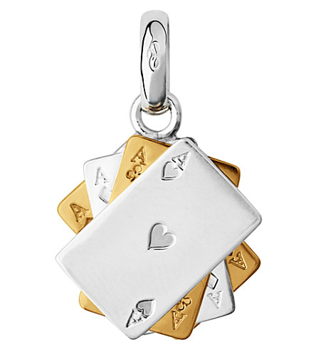 LINKS OF LONDON Sterling Silver and 18-carat gold poker cards charm