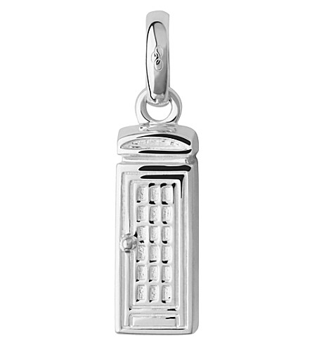LINKS OF LONDON Sterling silver london phone box charm (Silver