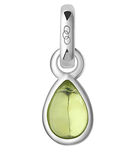 LINKS OF LONDON August sterling silver and peridot mini birthstone charm (Yellow