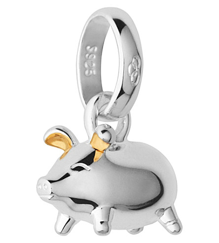 LINKS OF LONDON Sterling silver and 18-carat yellow gold vermeil Chinese zodiac pig charm