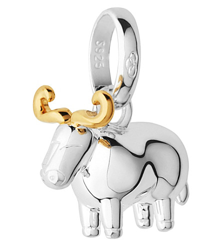 LINKS OF LONDON Sterling silver and 18-carat yellow gold vermeil Chinese zodiac ox charm