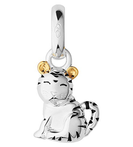LINKS OF LONDON Sterling silver and 18-carat yellow gold vermeil Chinese zodiac tiger charm