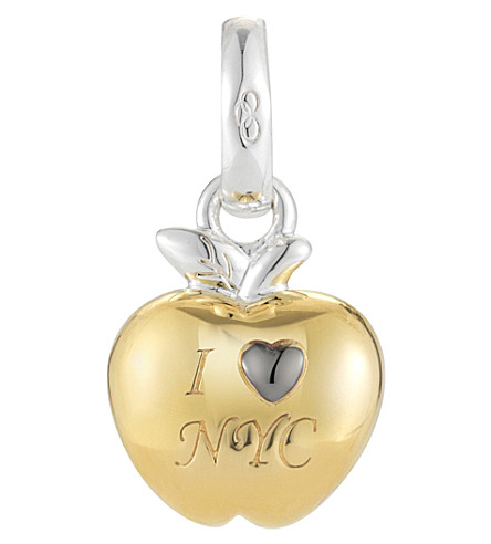 LINKS OF LONDON I Love New York sterling silver and 18ct yellow-gold vermeil charm (Gold