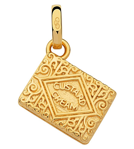 LINKS OF LONDON 18kt gold vermeil custard cream charm