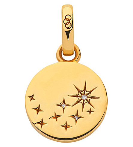 LINKS OF LONDON Amulet 18ct yellow gold vermeil and diamond destiny charm