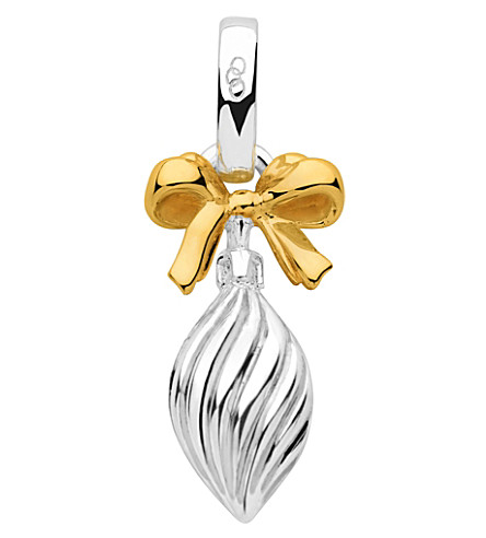 LINKS OF LONDON Sterling silver and 18ct gold vermeil drop bauble charm (Silver