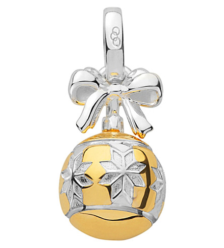 LINKS OF LONDON Sterling silver and 18ct gold vermeil star bauble charm (Yellow+gold