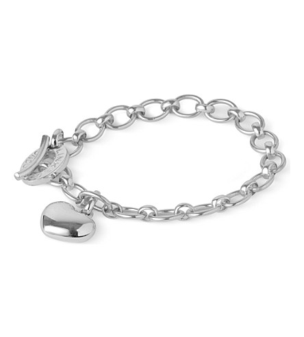 LINKS OF LONDON Sterling silver bracelet with heart charm