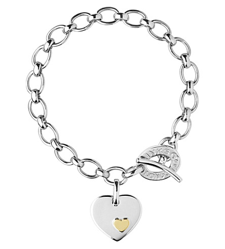 LINKS OF LONDON Heart sterling silver charm bracelet